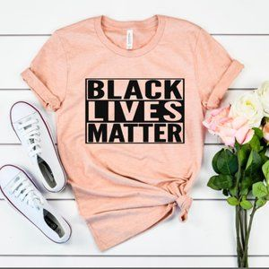 Black Lives Matter Tee Coral Final Price